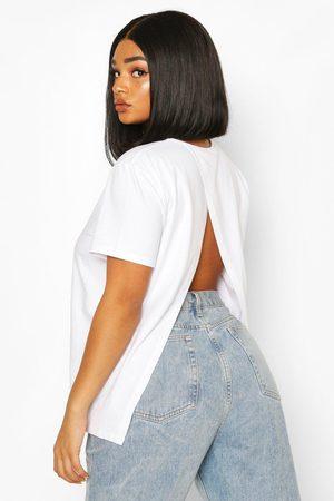 Boohoo Plus Open Split Back T-Shirt