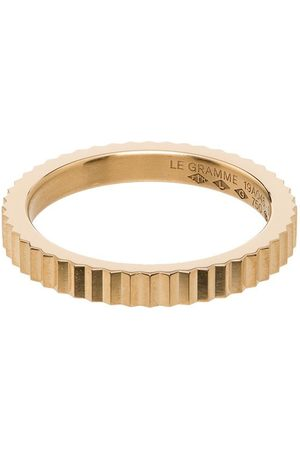 Le Gramme 18kt single Guilloche ring