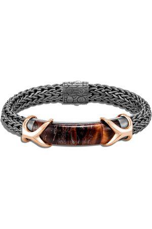 John Hardy Men Bracelets - Asli Classic Chain' red tiger iron sterling silver bronze bracelet