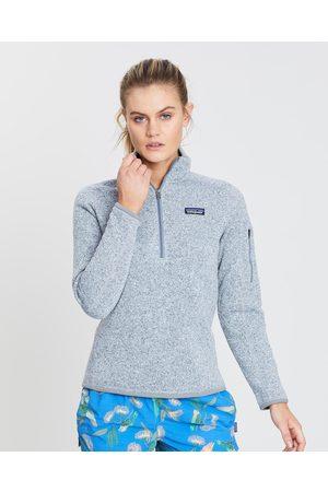 Patagonia Women Sweatshirts - Better Sweater 1 4 Zip Women's - Sweats (Birch ) Better Sweater 1-4 Zip - Women's