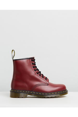 Dr. Martens Women Lace-up Boots - Unisex 1460 Smooth 8 Eye Boots - Boots (Cherry Smooth) Unisex 1460 Smooth 8-Eye Boots