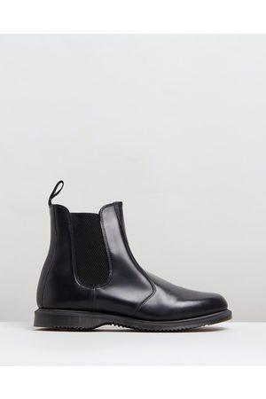 Dr. Martens Womens Flora Kensington Chelsea Boots - Boots ( Polished Smooth) Womens Flora Kensington Chelsea Boots