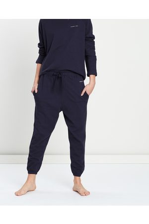 Assembly Label Women Loungewear - THE ICONIC EXCLUSIVE Logo Lounge Pants - Sleepwear (Worn Navy) THE ICONIC EXCLUSIVE - Logo Lounge Pants