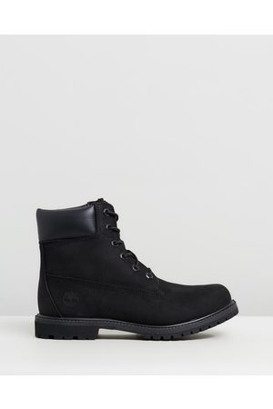 Timberland Womens 6 Inch Premium Lace Up Boots - Boots ( Nubuck) Womens 6-Inch Premium Lace Up Boots