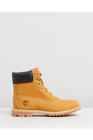 Timberland Womens 6 Inch Premium Lace Up Boots - Boots (Wheat Nubuck) Womens 6-Inch Premium Lace Up Boots