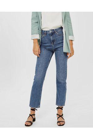 Topshop Straight Jeans - Crop (Mid Denim) Straight Jeans