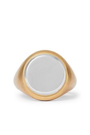 M. COHEN Men Rings - 18-karat And Sterling Silver Signet Ring