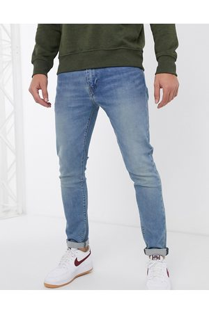 Levi's 512 slim tapered fit jeans in pelican rust mid wash-Blue