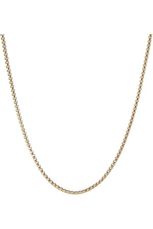 David Yurman Box chain 18k yellow gold necklace