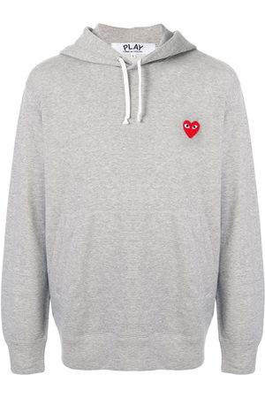 Comme des Garçons Men Hoodies - Embroidered logo hoodie