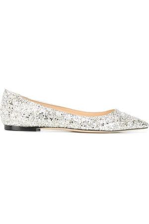 Jimmy Choo Romy glitter-embellished ballerina shoes