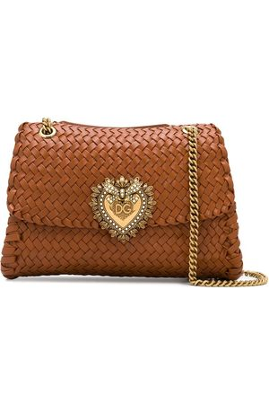 Dolce & Gabbana Devotion woven shoulder bag