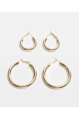 Alice In The Eve Mila Hollow Chunky Hoop 2 Pack
