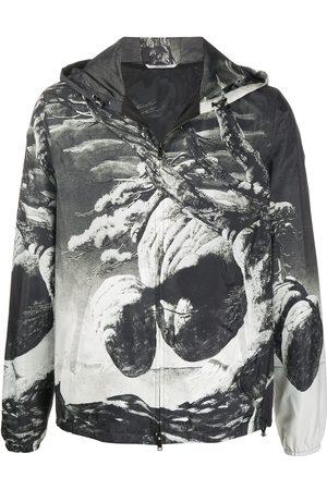 VALENTINO Floating Island zipped hooded jacket