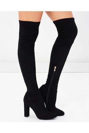 Billini Piper Over The Knee Boots - Boots ( Suede) Piper Over The Knee Boots