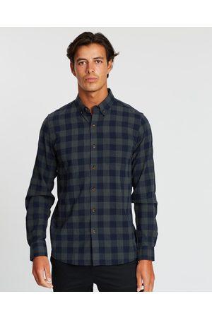 Staple Superior Phoenix Check Shirt - Casual shirts (Khaki Check) Phoenix Check Shirt