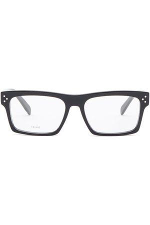 Céline Flat-top Rectangular Acetate Glasses - Womens