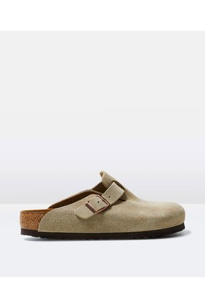 Birkenstock Boston Suede Leather Sandal Taupe
