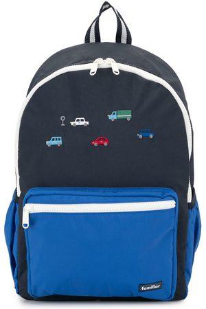 Familiar Boys Backpacks - Embroidered cars backpack