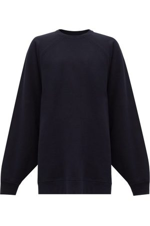 Raey Organic And Recycled-yarn Cotton-blend Sweatshirt - Womens - Navy