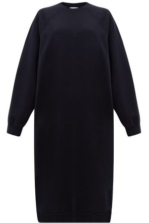 Raey Recycled-yarn Cotton-blend Sweatshirt Dress - Womens - Navy