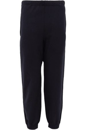 Raey Organic And Recycled-yarn Cotton-blend Track Pants - Womens - Navy