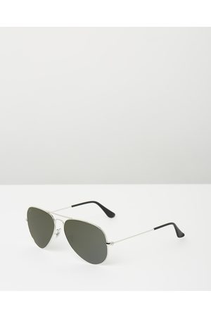 Ray-Ban Aviator Mirror RB3025 - Sunglasses (Solid Colour - Mirror ) Aviator Mirror RB3025