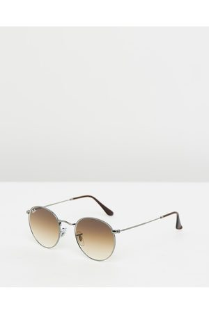 Ray-Ban Round Metal RB3447 - Sunglasses (Gunmetal & Crystal Gradient) Round Metal RB3447