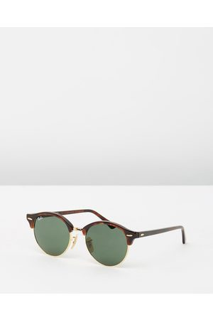 Ray-Ban Clubround RB4246 - Sunglasses (Tortoise & Solid) Clubround RB4246
