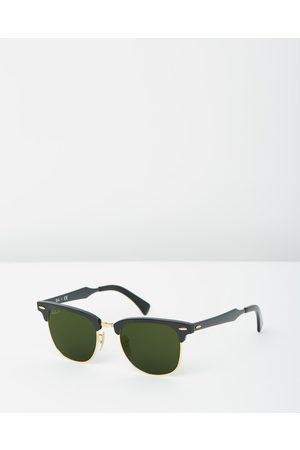 Ray-Ban Clubmaster Aluminum Polarised RB3507 - Sunglasses (Polarised Solid Colour ) Clubmaster Aluminum Polarised RB3507