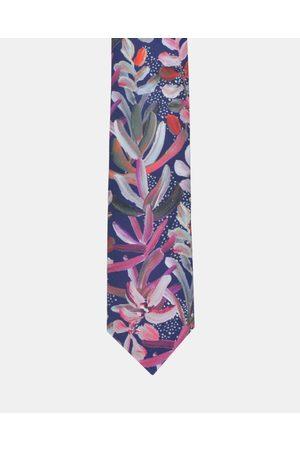 Peggy and Finn Protea Tie - Ties (Navy) Protea Tie