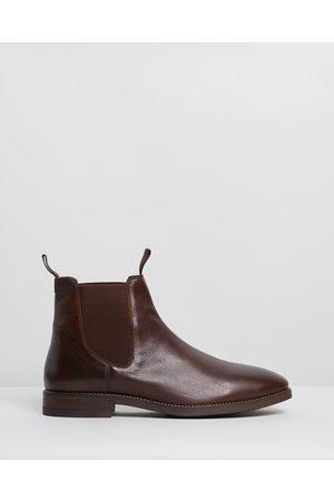 Double Oak Mills Carson Leather Gusset Boots - Boots Carson Leather Gusset Boots