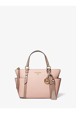 Michael Kors Nomad Small Two-Tone Saffiano Leather Top-Zip Tote Bag