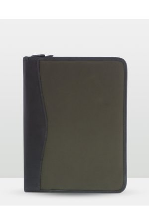 Cobb & Co River Leather Canvas Zip Around Document Sleeve - Satchels River Leather - Canvas Zip Around Document Sleeve