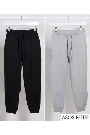 ASOS DESIGN Petite basic jogger with tie 2 pack SAVE-Multi