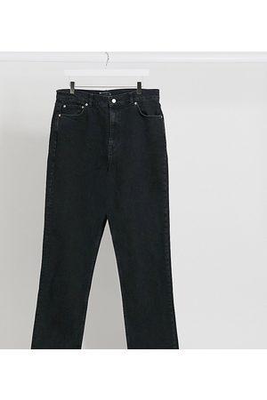 Women Boyfriend - ASOS DESIGN Tall High rise stretch 'slim' straight leg jeans in black