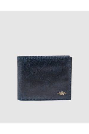 Fossil Ryan Navy Bifold Wallet - Wallets Ryan Navy Bifold Wallet