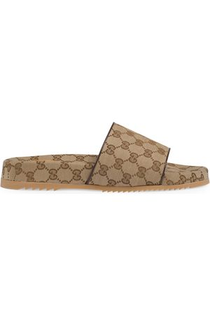 Gucci Men's GG canvas slide sandal