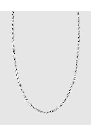 Kuzzoi Necklace Men Buddha Wheat Chain Braided Clasp 925 Sterling - Jewellery Necklace Men Buddha Wheat Chain Braided Clasp 925 Sterling
