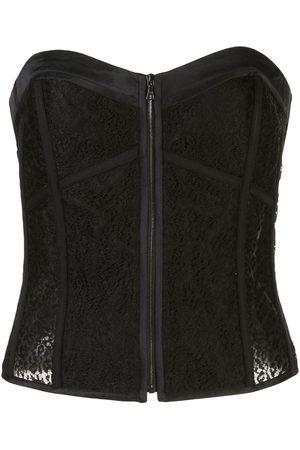 Kiki de Montparnasse Grosgrain detail lace corset