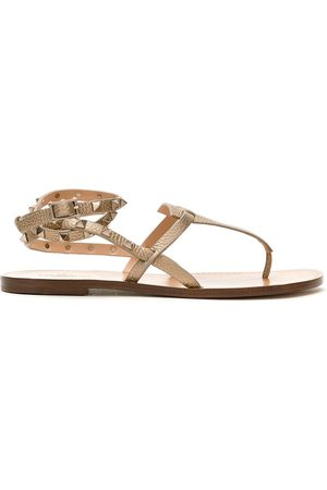 VALENTINO GARAVANI Women Thongs - Rockstud Double flip-flop sandals