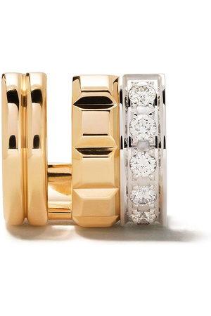 Boucheron 18kt yellow and white gold Quatre Radiant Edition diamond mini single clip earring