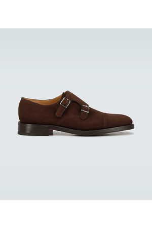 JOHN LOBB William double sole suede shoes