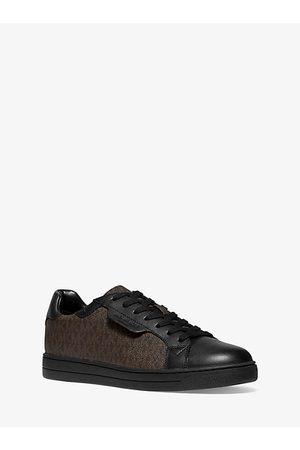 Michael Kors Men Sneakers - MK Keating Logo and Leather Sneaker - /blk - Michael Kors