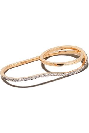 Botier 18kt rose gold Bella diamond double ring