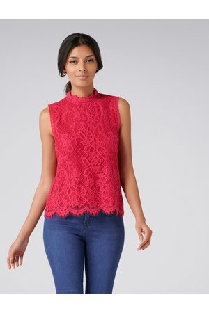 Forever New Women Tank Tops - Valentina Lace Tank Top