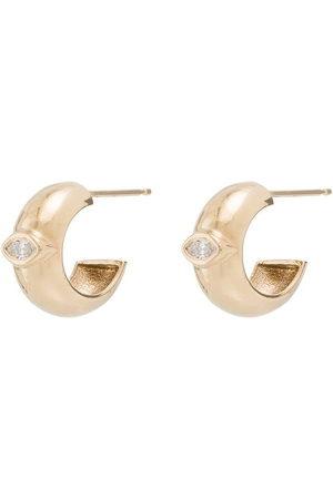 Zoe Chicco 14kt gold diamond huggie earrings