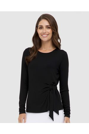 Bamboo Body Tie Front Top - Tops Tie Front Top