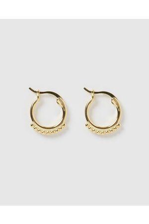 Izoa Mini Detail Huggie Earrings - Jewellery Mini Detail Huggie Earrings