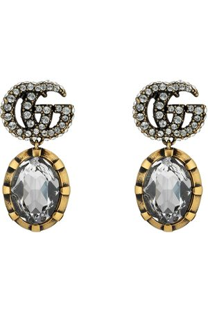 Gucci Earrings - Double G earrings with crystals